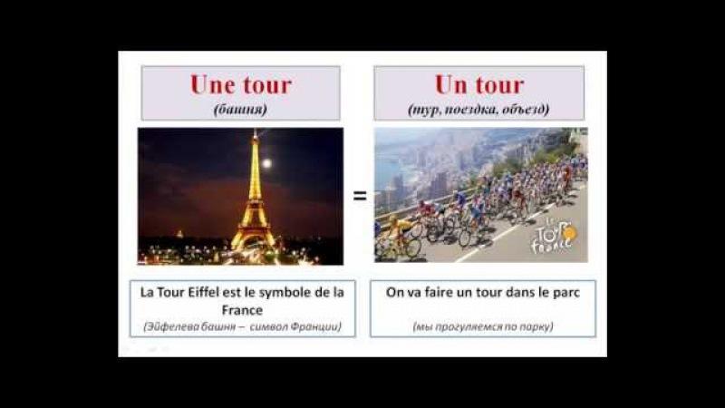 Уроки французского 77 Учим французские слова оригинальный способом! Les homonyms français