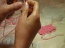 Вязание на спицах. Итальянский набор петель (первое видео)