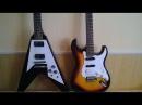 Сравнение двух гитар, Gibson Flying V и Tenson за 9 тысяч рублей