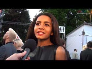 Interview Aminata on the red carpet - Latvia Eurovision 2015