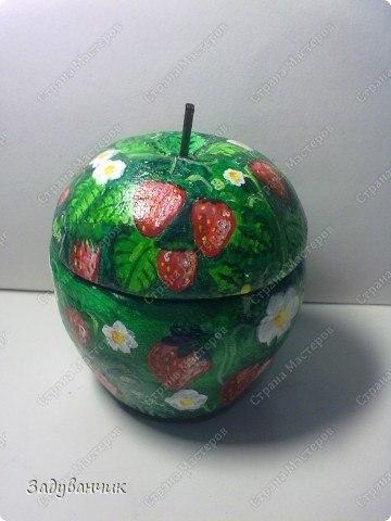 Поделка в виде яблока