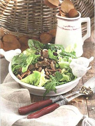 Фото рецепта: Летние опята с семечками подсолнечника