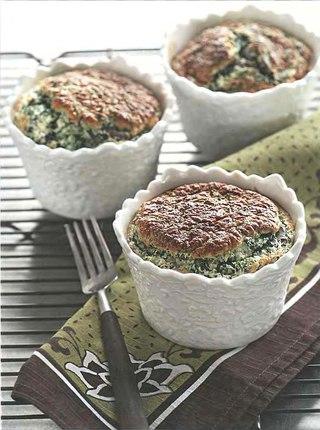Фото рецепта: Суфле из маслят и шпината