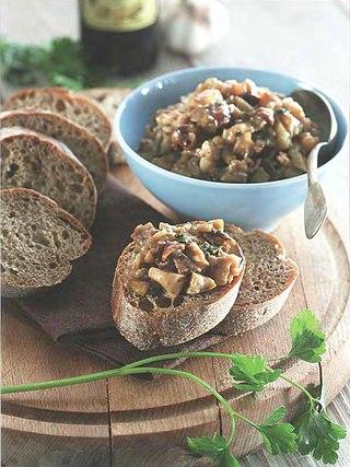Фото рецепта: Грибная икра с баклажанами