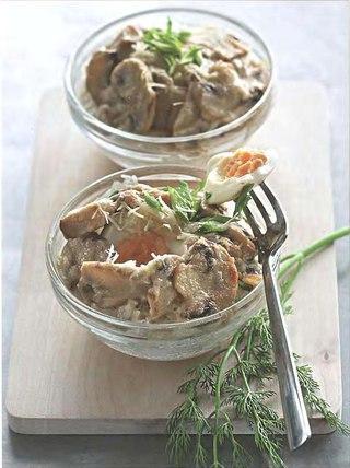 Фото рецепта: Яйца, запеченные в грибном соусе
