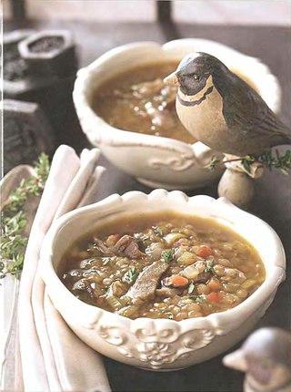 Фото рецепта: Грибной суп с чечевицей