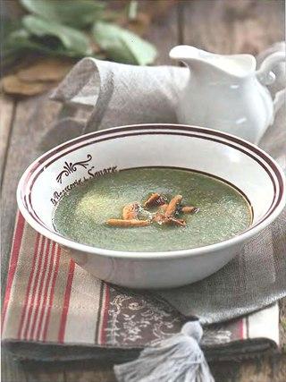 Фото рецепта: Грибной суп со шпинатом