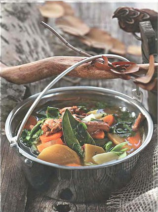 Фото рецепта: Суп из лисичек с репой
