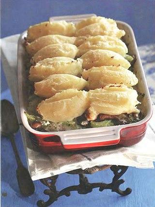Фото рецепта: Рыбная запеканка с грибами