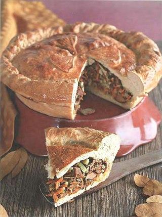 Фото рецепта: Пирог с лисичками