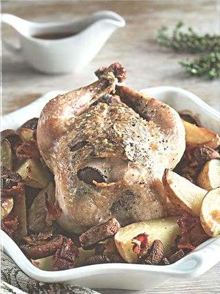 Фото рецепта: Цыпленок с трюфелями и картофелем
