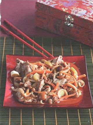 Фото рецепта: Свинина с грибами намеко