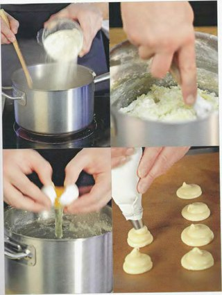 Фото рецепта: Заварное тесто (профитроли)