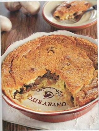 Фото рецепта: Заливной пирог с картофелем и грибами