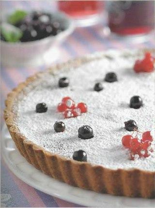 Фото рецепта: Пирог со смородиной и красным вином