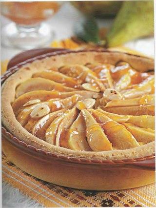 Фото рецепта: Магрибский пирог с миндалем и грушами
