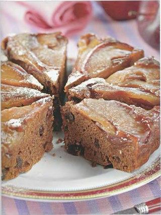 Фото рецепта: Постный пряный пирог с яблоками на пару