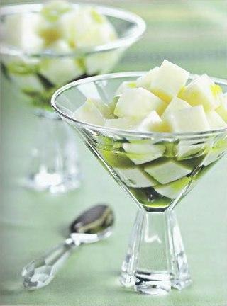 Фото рецепта: Йогуртовое желе в сиропе из зеленого чая