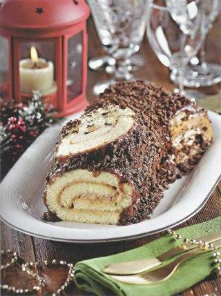 Фото рецепта: Французское рождественское полено