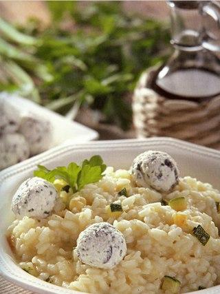 Фото рецепта: Ризотто с кабачками и сырными шариками