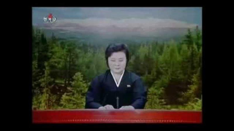 Сообщение о смерти товарища Ким Чен Ира. Телевидение КНДР, 19 декабря 2011 года.