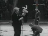 Олег Попов на арене Московского цирка