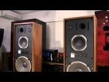 I played (KRS) KENRICK SOUND 4346 with $250 Class D amp (16 AA bateries) and iPod