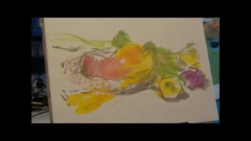 Натюрморт с тюльпанами. Масляная живопись. Oil painting. Natürmort laleler. Yağlıboya resim.