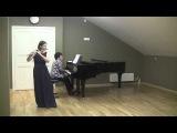 Бах Соната для флейты и фортепиано ми мажор, I,II часть, Таффанель Фантазия на темы из оперы К.М. Вебера