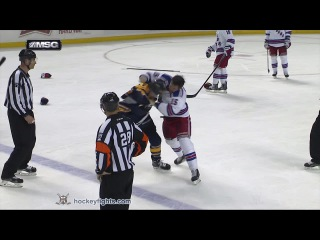 Tanner Glass vs Nicolas Deslauriers Mar 14, 2015