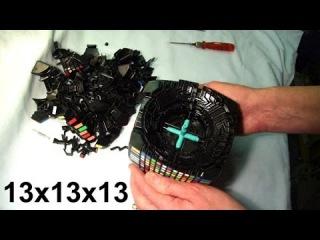 MoYu 13x13x13 *FULL DISASSEMBLY* & close look at parts (mega 13x13 Rubik's Cube puzzle)