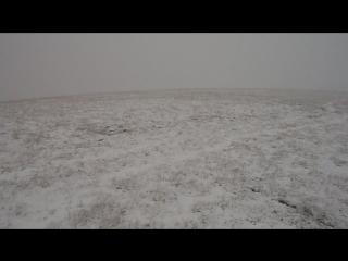 Апрельская метель на плато Караби-яйла.