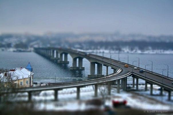 В Костроме на волжском мосту