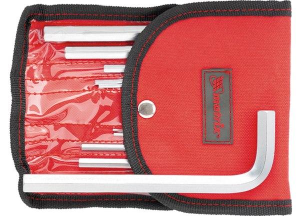 Набор ключей имбусовых HEX, 1,5–12 мм, CrV, 10 шт., сатин., чехол   MATRIX