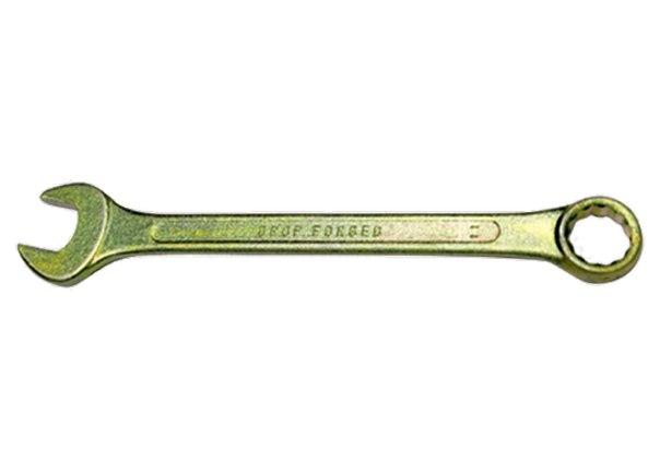 Ключ комбинированный, желтый цинк   СИБРТЕХ