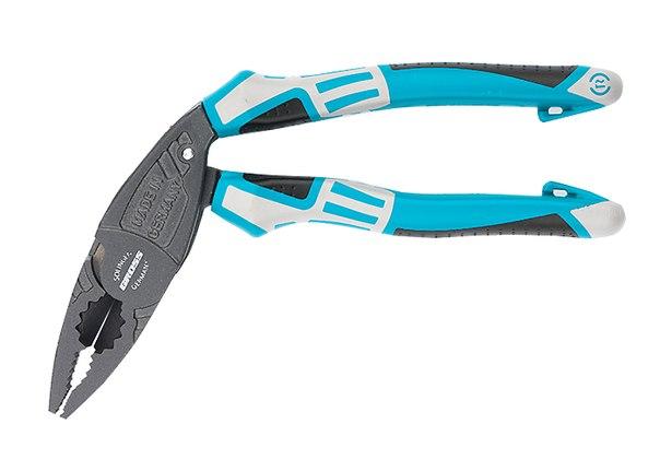 Плоскогубцы с изогнутой головой, комбинированные, трехкомпонентные рукоятки, 200 мм   GROSS