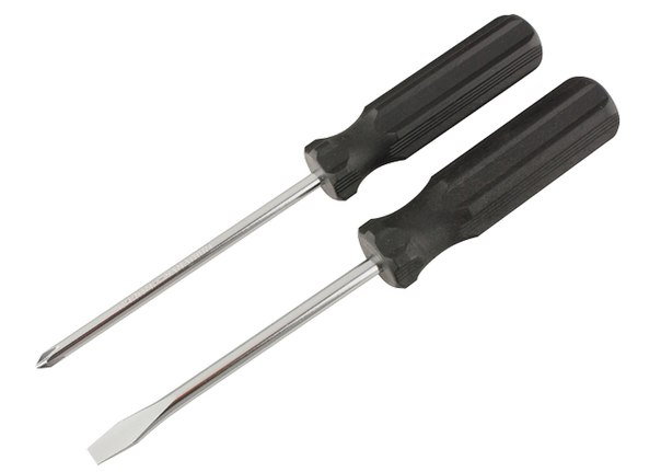 Отвертка, углеродистая сталь, черная пластиковая рукоятка   SPARTA