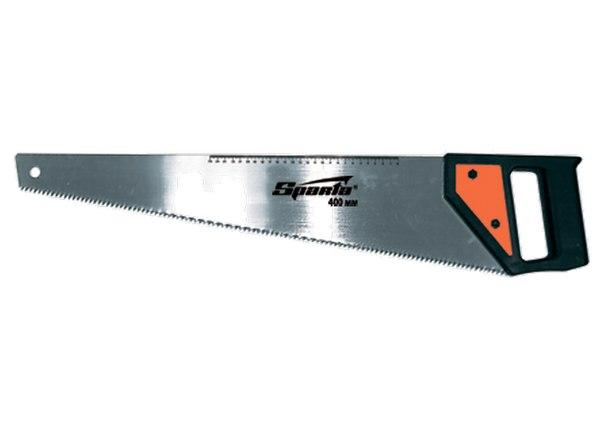 Ножовка по дереву, 5-6 TPI, каленый зуб, линейка, пластиковая рукоятка   SPARTA