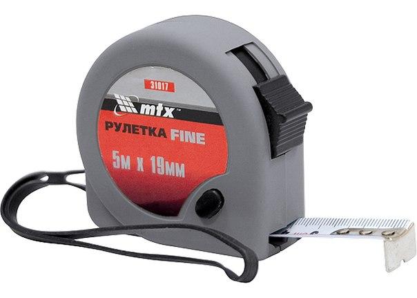 Рулетка Fine, пластиковый корпус   MATRIX