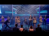 The Cast Of Glee - Dont Stop Believing - X Factor Semi Final