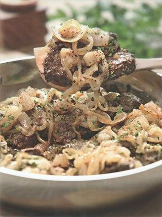 Фото рецепта: Печенка с салом