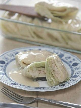 Фото рецепта: Рыба в капустных листьях