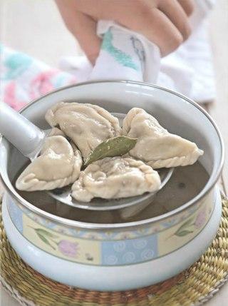 Фото рецепта: Вареники с салом и говяжьей печенкой