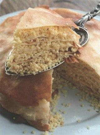 Фото рецепта: Блинчатая бабка с начинкой из пшенки