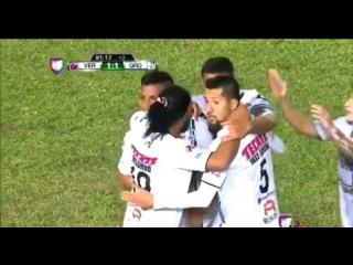 Gol de Sepulveda (Ronaldinho assist) - Veracruz vs Queretaro 1-1 (LIGA MX 2015) HD