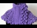 Crochet : Cuello en Morado 1. Parte 4