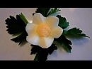 Цветок из яйца Украшения из продуктов Как красиво нарезать яйцо