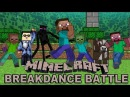 Minecraft breakdance battle zombie enderman psy parody video