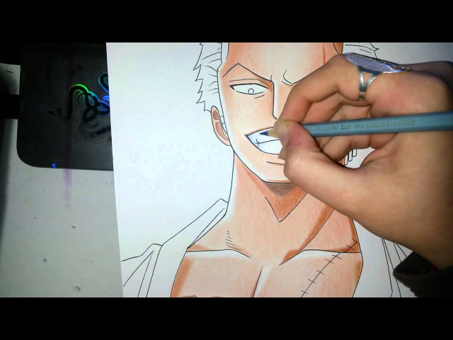 Speed Drawing - Roronoa Zoro (One Piece)