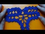 How to Crochet Bruges lace Как вязать Брюггское кружево крючком 6